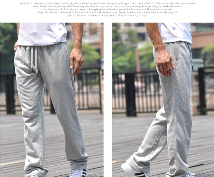 228e3b3a60857d Spring and autumn summer men s ports casual trousers fattening up the slacks  mens compression tights pants