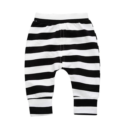 - 0-2 T PP Baby pants Boy trousers Striped printed children trousers harem pants Can open the children's pants Autumn/Spring - Boy Shorts 2 / 12M  jetcube