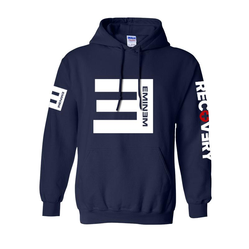 Men's Fleece Hoodies Eminem Printed Pullover Sweatshirt Men Lost Youself Fashion Clothing Eminem Rap Hip Hop Music Hoodie