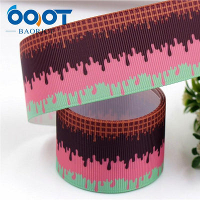 - 1711142,38MM cartoon Printed grosgrain ribbon,DIY handmade jewelry accessories, wedding birthday party gift packaging materials - 6  jetcube