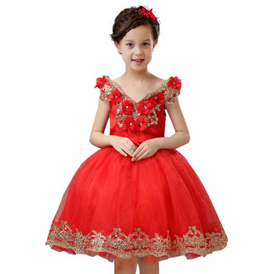 - 2-12 years Kids party dress of girls Girls Christmas dress new high-grade design children princess dress girl new Year dress -   jetcube