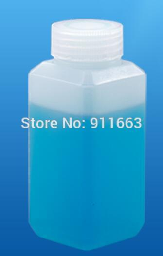 - 100 ml 10pcs! Square Bottles!HDPE medical plastic liquid bottles with burglarproof caps for chemical reagent -HDPE material -   jetcube