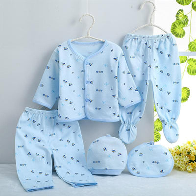 - 0-3M Newborn Infant Baby Girls boys Clothes Long-sleeved shirt,pants,hat,scarf 7pcs 5pcs Outfit Kids Clothing Set Factory cheap - 5PCS 03 / 3M  jetcube