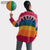 2018 New Fashion Women Rainbow Oversized Cardigan Long Knitted Sweater Cape Tops Femme Warm Sweaters Sueter Mujer