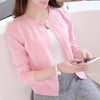 Women cardigan sweater Spring autumn sweater Solid One button women's cashmere sweater Single Button pull femme Slim Sweaters