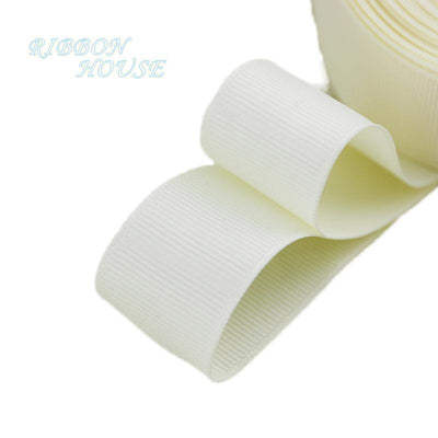 "- (5 meters/lot) 1"" (25mm) Grosgrain Ribbon Wholesale gift wrap Christmas decoration ribbons - Beige  jetcube"