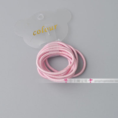 - 10 Pcs/ lot (1 pack) Mini 2.5mm thickness hair ropes little girls Slim hair ties kids Babe hair ropes accessories - Pink  jetcube