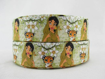 "- (5yds per roll) 1""(25mm) Cartoon high quality printed polyester ribbon 5 yards, DIY handmade materials, wedding gift wrap,5Yc956 - 2000481001  jetcube"
