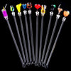 - 10 pcs/set Wholesales 23 cm Cocktail Drink Bar Puddler Muddler Stirring Mixing sticks Ladle Stirrer Swizzle Stick Cocktail Picks -   jetcube