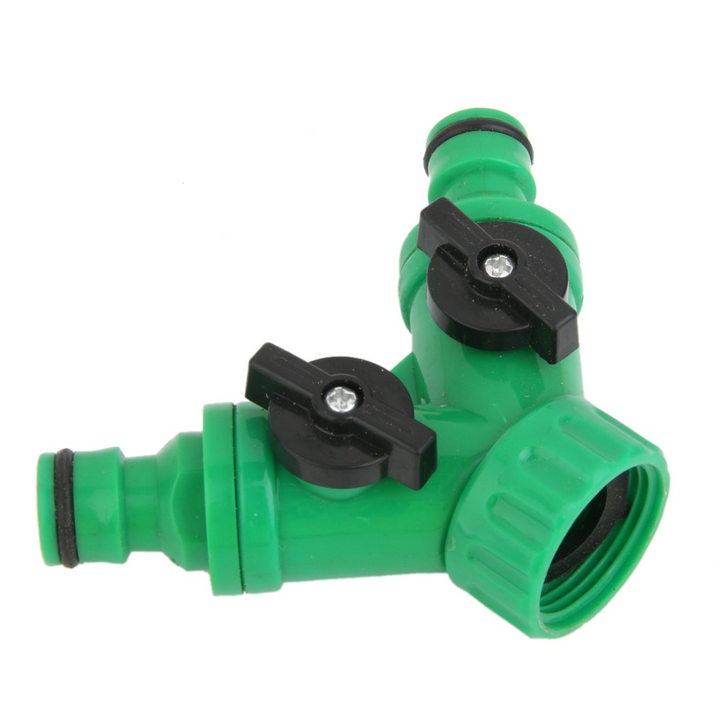New 95 Cm Garden 2 Way Adapter Y Tap Connector Fitting Switch For Irrigation Hose