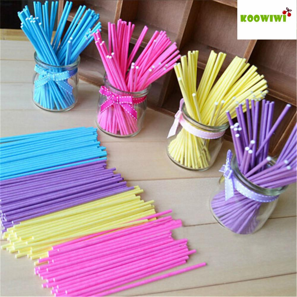 - 12/20 pcs Colorful Lollipop Stick Pop Sucker Sticks for Lollypop Lollipop Chocolate Candy Cudgel Handle Rod Cake Tools 4N1055 -   jetcube