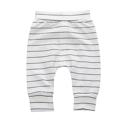 - 0-2 T PP Baby pants Boy trousers Striped printed children trousers harem pants Can open the children's pants Autumn/Spring - Boy Shorts 5 / 12M  jetcube