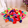 - 100Pcs Kids Girl Colorful Elastic Hair Tie Band Baby Girl Rope Ring Band Ponytail Holder Hairdress -   jetcube
