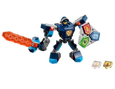 - (YNYNOO)10585 10586 10587 10588 10589 Nexus Knights Building Blocks set Macy Aaron AXL Lance Clay Battle Suit Kids bricks toys - Blue  jetcube
