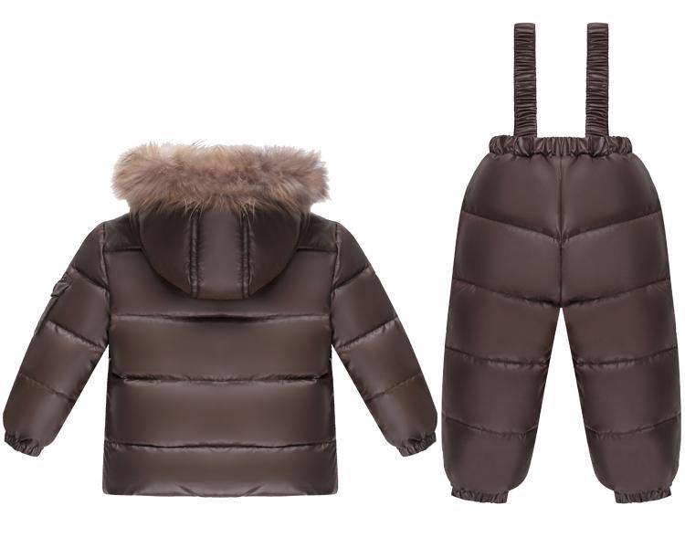 - -30 Russian winter Kids Clothes baby Boys Girls Winter Down Coat Children Warm Jackets Snowsuit Outerwear +Romper Clothing Set -   jetcube
