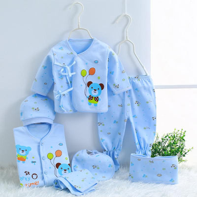 - 0-3M Newborn Infant Baby Girls boys Clothes Long-sleeved shirt,pants,hat,scarf 7pcs 5pcs Outfit Kids Clothing Set Factory cheap -   jetcube