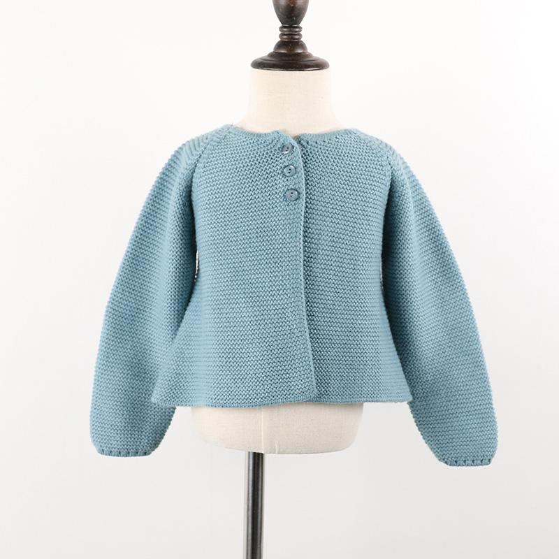 - 0-24m Baby Cardigan girls Jacket 2018 Spring knited Outwear For Children tops toddler kids clothing autumn - blue / 12M  jetcube