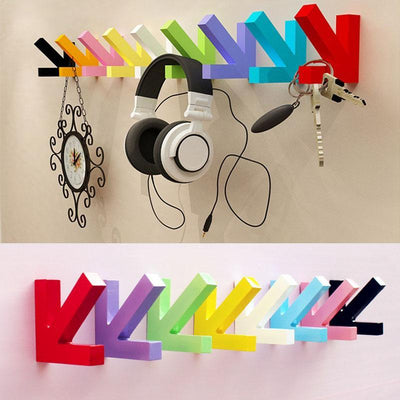 - 200pcs Mordern Design Wall Mounted Multi Color Painting Wood Arrow Hook Hanger Hat Coat Door Clothes Rack Home DecorationZA1114 -   jetcube