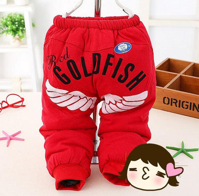 - (1piece /lot) 100% cotton 2015 new warm trousers for 4-24month baby - Red / 12M  jetcube