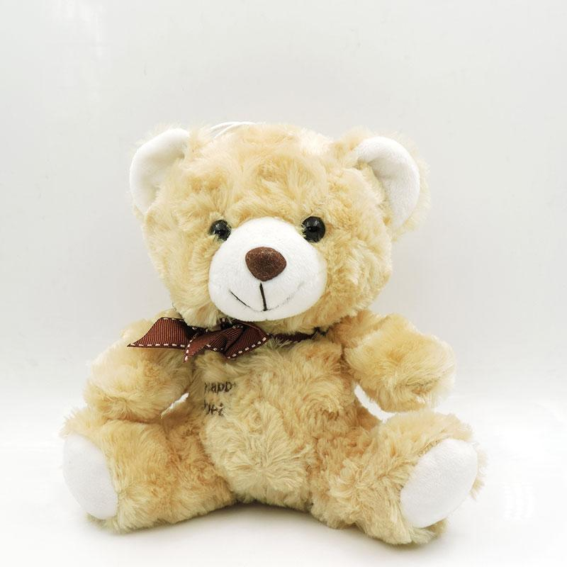- (1 piece) 30cm Small Cute Teddy Bears Stuffed Animals Soft Plush Toys White Beige Brown Hold Bears Bow/Necklace Randomly Deliver - dark brown 30cm / full 30cm  jetcube