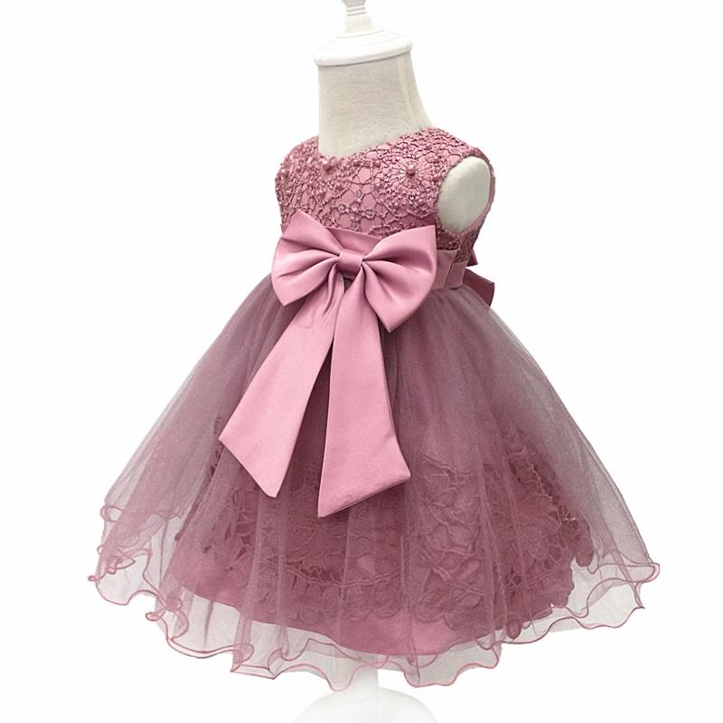 Free Shipping Cotton Infant Dresses 2017 New Arrival Solid Lace