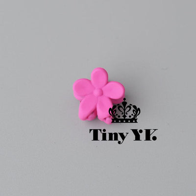 - 10 pcs New Fashion Baby Girls Small Hair Claw Cute Candy Color flower Hair Jaw Clip Children Hairpin Hair Accessories Wholesale - Fuschia  jetcube