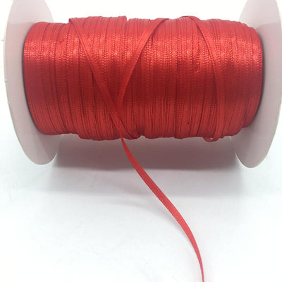 "- (20Yards/lot)1/8"" 3mm Silk Satin Ribbon Polyester Ribbon Wedding Christmas Party Decoration DIY Gift Packing - Red  jetcube"