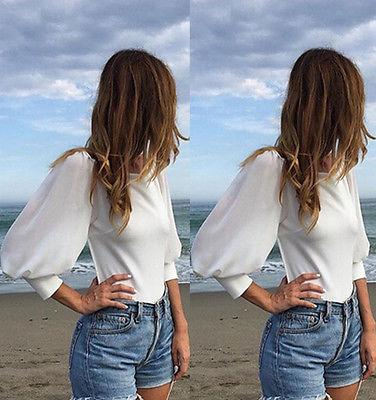 Open back blouses for women sexy