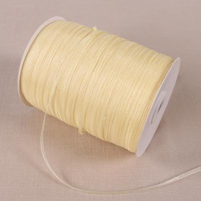 - (20 yards/lot) 1/8''(3mm) organza ribbons wholesale gift wedding Christmas decoration wrapping ribbons -   jetcube