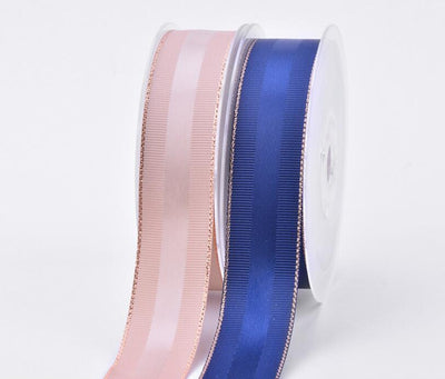 - 10 yards/lot 10mm/25mm/38mm glitter rose gold edge grosgrain and satin ribbons gift packaging DIY handmade materials YM18011301 -   jetcube