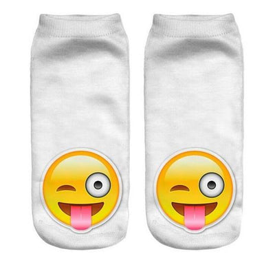 - % Feitong Top Quality Socks Female 3D Fashion Printing Women Sock Unisex Emoji Pattern Meias Cute Feminina Funny Low Ankle - 6  jetcube