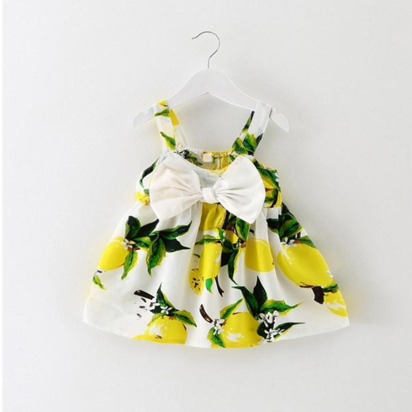 - 0-2 years baby dress fashion print baby vestidos with animal world print cotton cute suit dress +triangle trousers + tiara - Yellow / 12M  jetcube
