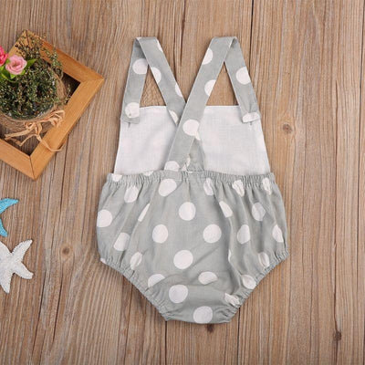 - 0-18M Newborn Infant Baby Boy Girl Romper Sleeveless Polka Dot Toddler Kids Jumpsuit One Pieces Sunsuit Clothes -   jetcube