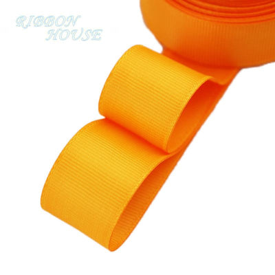 "- (5 meters/lot) 1"" (25mm) Grosgrain Ribbon Wholesale gift wrap Christmas decoration ribbons - Orange  jetcube"