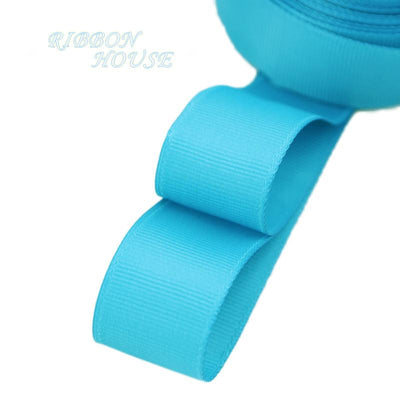 "- (5 meters/lot) 1"" (25mm) Grosgrain Ribbon Wholesale gift wrap Christmas decoration ribbons - Lake Blue  jetcube"