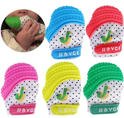 - 1 PIECE Baby Teethers Natural Silicone Gloves Teether Chewable Nursing Beads Child Give Up Sucking Fingers -   jetcube