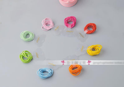 - 10 Pcs/ lot (1 pack) Mini 2.5mm thickness hair ropes little girls Slim hair ties kids Babe hair ropes accessories -   jetcube