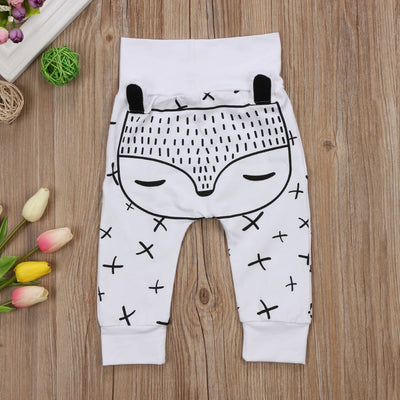 2017 Autumn Baby Pants Kids Toddler Newborn Cute 3D Ears Baby Boys Girls Long Harem Pants Trousers Leggings Bottom
