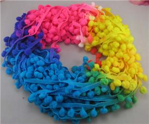- 2*2y 7mm Width Pompom Ball Trims 2*2y/pack 17010704(7D4y) - Mixed Colors 2  jetcube