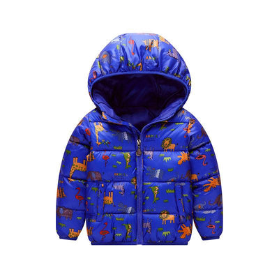 - 2-6 Years Dinosaur Pattern Girls Boys Coats 2017 Outerwear & Coats Fashion Boys Parkas Kids Clothes Warm Down Coats for Boys - 4 / 24M  jetcube