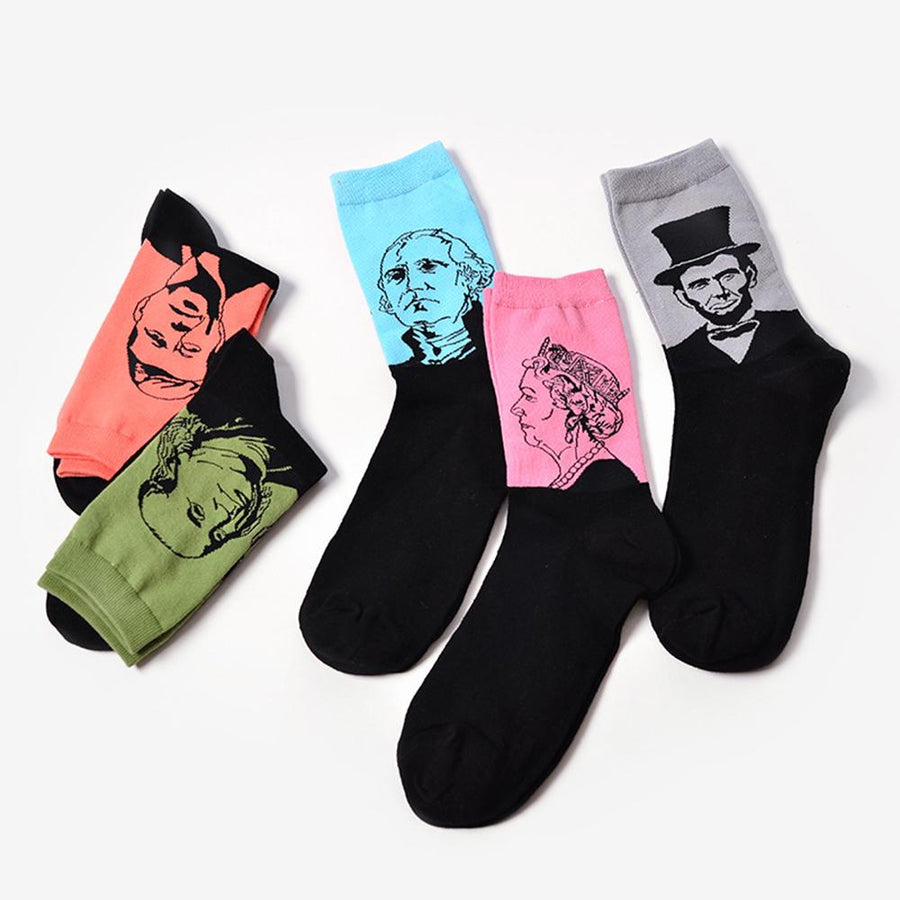 Men's Socks Harajuku Vintage Women Crew Socks Funny Fruit Cherry Pineapple Sock Girls Streetwear Skateboard Socks Couple Woman Men Long Sock Crease-Resistance