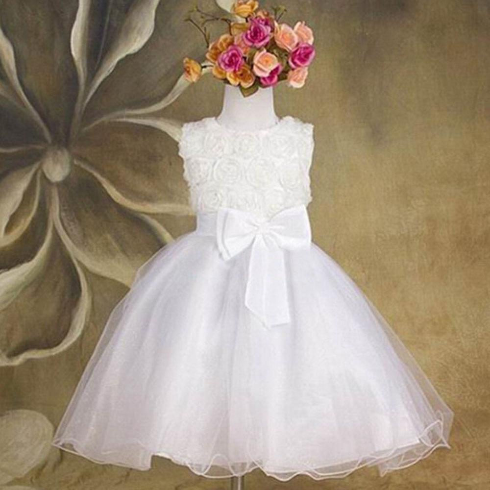 Summer New Arrival Flower Princess Girl Dress Lace Rose Party Wedding Birthday Candy Tutu Dresses