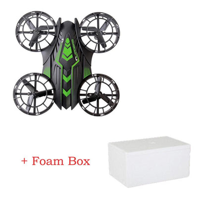 - 2.4GHz UFO Helicopter Mini rc drone FPV WIFI 200W 2MP HD Camera JXD 515W Timely Quadcopter Propeller Up and Down all protection - Green Foam Box  jetcube