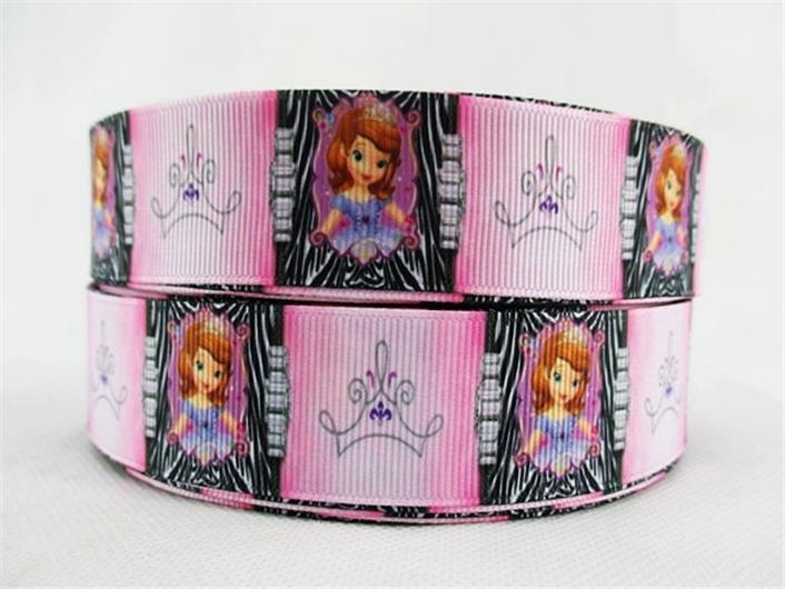 "- (5yds per roll) 1""(25mm) Cartoon high quality printed polyester ribbon 5 yards,DIY handmade materials,wedding gift wrap,5Yc1677 - 2000554001  jetcube"