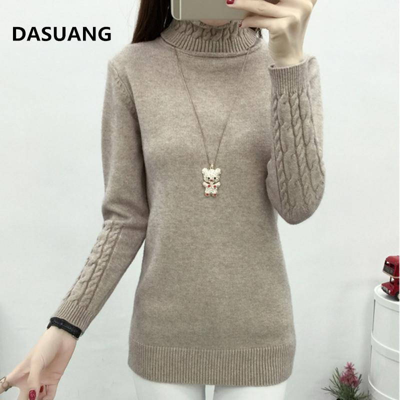 DASUANG Women Turtleneck Winter Sweater Women 2018 Long Sleeve Knitted Women Sweaters And Pullovers Female Jumper Tricot Tops