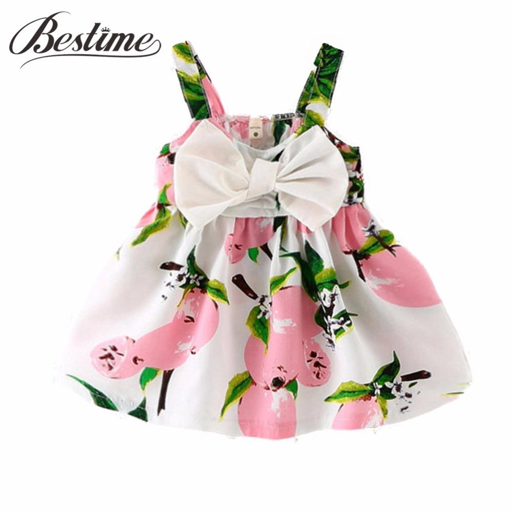 - 0-24Months Summer Baby Dress Lemon Print Infant dresses Cotton Sleeveless Princess Birthday Dress for Baby Girl Clothes -   jetcube