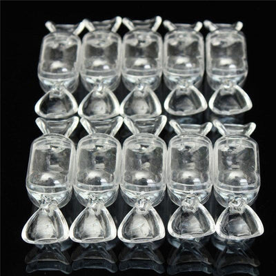 - 10 pcs High Quality Transparent Clear Plastic Sweet Shaped Candy Boxes Case Storage Container New -   jetcube
