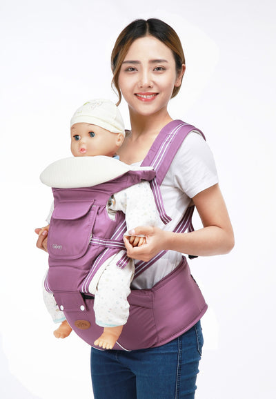 - 0-36 Months Breathable Front Facing Baby Carrier 4 in 1 Infant Comfortable Sling Backpack Pouch Wrap Baby Kangaroo with hipseat - Purple / OneSize  jetcube