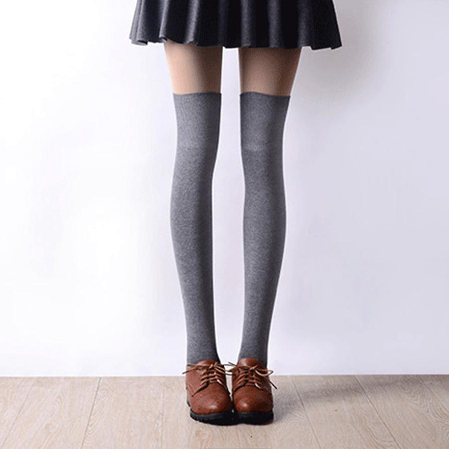 d281eca54 2016 New 3 Colors Fashion Women s Socks Sexy Warm Thigh High Over The Knee  Socks Long
