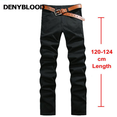 - 120cm Extra Long Jeans Mens Plus Size 28-44 Black Stretch Twill Pants Classic Jeans Trousers Casual Pants for Tall People 760 -   jetcube